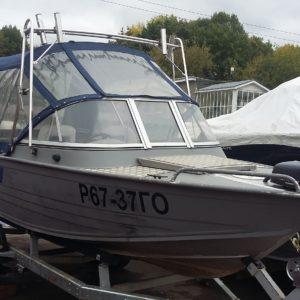 Мотолодка Windboat 47 + Honda BF 50lrtu + Прицеп