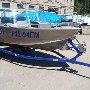 Мотолодка Wyatboat 430 DCM + Mercury 30E + Прицеп. Б/у 2016 г.в.